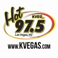 Logo de la radio Hot 97.5 KVEG