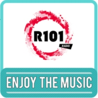 Logo of radio station R101 Enjoy the music