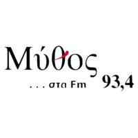 Logo de la radio Mýthos 93,4 fm - Μύθος 93,4 fm