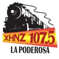 Logo de la radio XHNZ La Poderosa 107.5