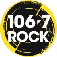 Logo of radio station CJRX-FM 106.7 ROCK