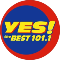 Logo de la radio 101.1 Yes The Best