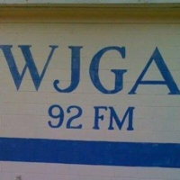 Logo of radio station 92.1 WJGA
