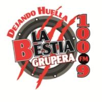 Logo of radio station XHTBV La Bestia Grupera 100.9 FM