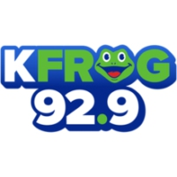 Logo of radio station KFGY 92.9 K-FROG