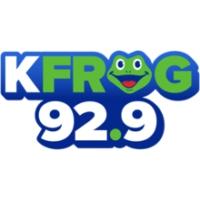 Logo of radio station KFGY 92.9 K-FROG