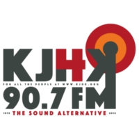 Logo of radio station KJHK 90.7 FM