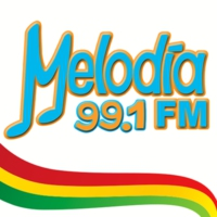 Logo of radio station Melodía FM 99.1