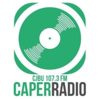 Logo of radio station CJBU-FM Caper Radio