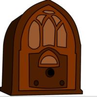 Logo of radio station Travel through the world on radio wave