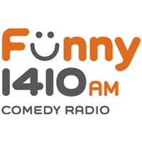 Logo of radio station Funny 1410 Comedy Radio