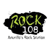 Logo of radio station KZRK Rock 108