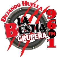 Logo of radio station XHSIC La Bestia Grupera 96.1 FM