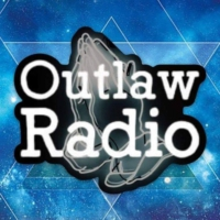 Logo of radio station 97.7 OUTLAW RADIO FM
