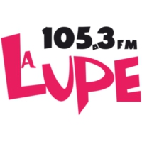 Logo of radio station XHPAG La Lupe 105.3 FM