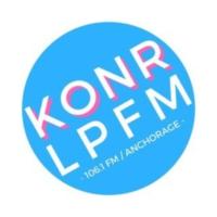 Logo of radio station KONR-LP 106.1 FM