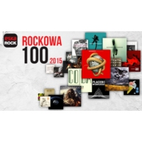 Logo of radio station Eska Rockowa 100