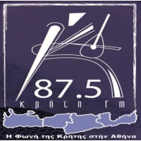 Logo de la radio Kriti 87.5 FM
