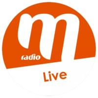 Logo de la radio M Radio - 100% Live