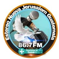 Logo of radio station Estereo Nueva Jerusalem  Guatemala 86.7FM
