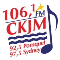 Logo of radio station 106.1 FM CKJM