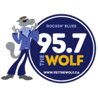 Logo of radio station CKTP-FM 95.7 The Wolf