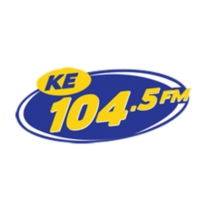 Logo of radio station XHKE KE 104.5 FM