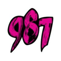 Logo of radio station 987