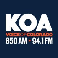 Logo of radio station KOA 850 AM & 94.1 FM