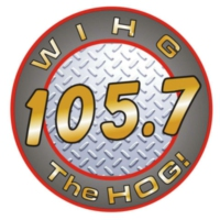 Logo de la radio WIHG 105.7 The HOG!