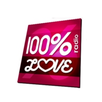 Logo de la radio 100% RADIO LOVE