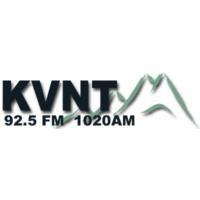 Logo of radio station KVNT
