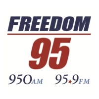 Logo of radio station WFDM-FM Freedom 95