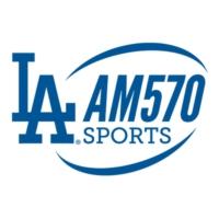 Logo of radio station KLAC AM 570 FOX Sports LA