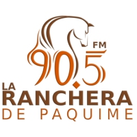 Logo of radio station XHTX La Ranchera 90.5 FM