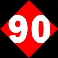 Logo of radio station Retro90.dk