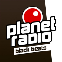 Logo of radio station planet radio - black beats