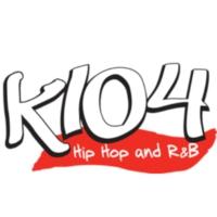Logo of radio station KKDA-FM K-104