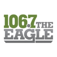 Logo of radio station KLTH 106.7 The Eagle