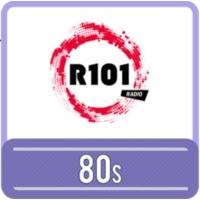 Logo of radio station R101 80