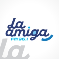 Logo of radio station La Amiga FM 96.1