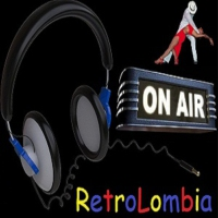 Logo of radio station Retrolombia Stereo