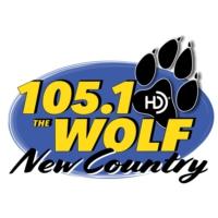 Logo of radio station KAKT 105.1 The Wolf Little Rock