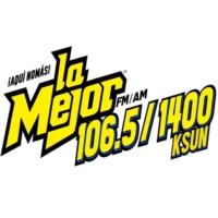 Logo de la radio KSUN La Mejor 106.5 FM y 1400 AM