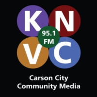 Logo of radio station KNVC 95.1 Carson City