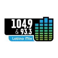 Logo of radio station KAMA-FM Latino Mix 104.9 y 93.3