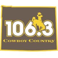 Logo de la radio KAZY 106.3 Cowboy Country