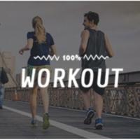 Logo de la radio 100FM - Workout