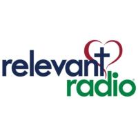 Logo of radio station KHJ-AM Relevant Radio