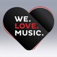 Logo de la radio WE. LOVE. MUSIC.